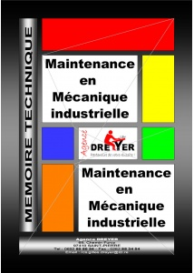 mémoire technique maintenance en mécanique industrielle
