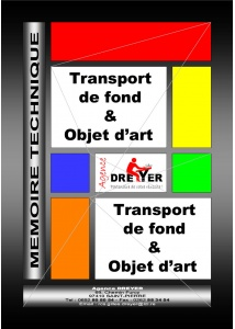mémoire technique transport de fonds et objets d'art